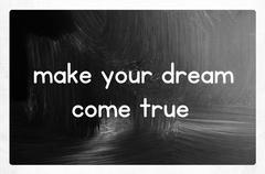 Make your dream come true Stock Photos