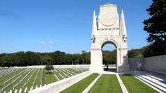 Etaples Military Cemetery, France. Stock Footage
