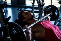 Weightlifter On Benchpress Stock Photos