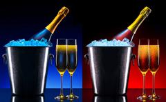 Luxury champagne background Stock Photos