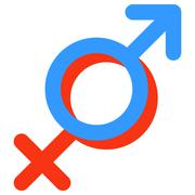 Gender symbol of Venus and Mars. - stock illustration
