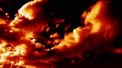Stock Video Footage of Burning Clouds Time Lapse