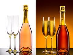 luxury champagne background - stock photo