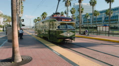 Trolley Car Historical in San Diego Stock Footage