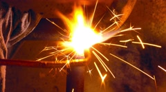Stock Video Footage of Lighting Welding Torch