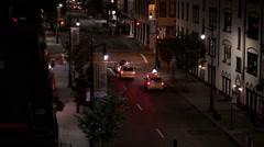 Firetruck FDNY Sirens Flashing Lights Night Emergency Fire Truck Manhattan NYC Stock Footage