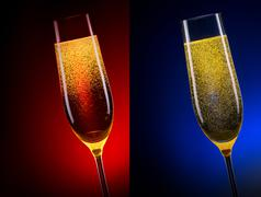 Luxury glass of champagne Stock Photos