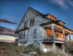 Stock Photo of Eerie Abandoned House