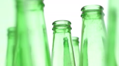 Bottles Green Recycling Standing Zoom Stock Footage