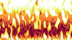 Stock Illustration of Detailed animation of red yellow flames in fire background
