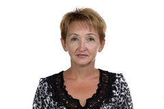 Photo of the old woman with short hair Stock Photos