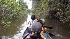 Kayak in the Orinoco Jungle Stock Footage