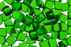 Green transparent polymer resin - stock photo