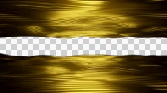 Gold Sea sideways 01 1080p with alpha Stock Footage