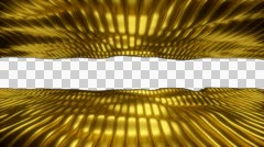 Gold Sea straight 01 1080p with alpha Stock Footage