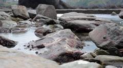 Large rockpool close-up.mp4 Stock Footage