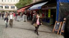 Munich Market Exterior - stock footage