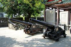 Ancient cannon in the Chinese museum outdoor Kuvituskuvat
