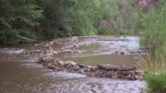 Riverbed ws in payson, az Stock Footage