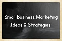 small business marketing ideas & strategies - stock photo