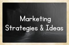 marketing strategies & ideas - stock photo