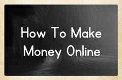 How to make money online Stock Photos