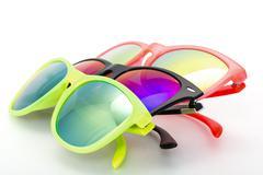 Few very bright sunglasses eyewear Stock Photos