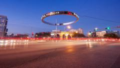 Houston Galleria Timelapse at Westheimer and Post Oak Blvd Stock Footage