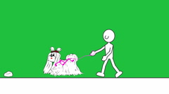 Walking Dog (Minimalist Animation): Loop + Matte Stock Footage
