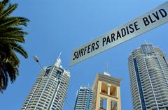 Surfers paradise blvd gold coast australia Stock Photos