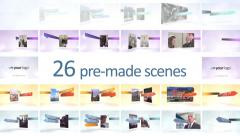 Multi Scenes Ribbons Presentation - After Effects Template Stock After Effects
