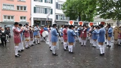 Traditional annual spring parade of Guilds Stock Footage