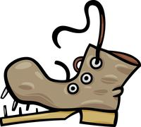 Stock Illustration of old shoe or boot cartoon clip art