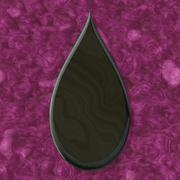 Stock Illustration of droplet shape frame with seamless generated texture