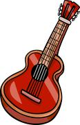 Stock Illustration of acoustic guitar cartoon clip art