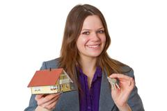 Female real estate agent Stock Photos