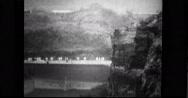USS Saratoga (CV-3) moving through Culebra Cut Stock Footage
