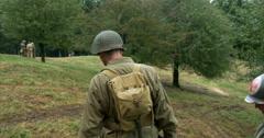 American soldier patrol 02 Stock Footage