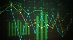 Graphical User Interface, Active Graph Charts Stock Footage