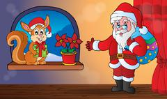 Christmas indoor topic  Stock Illustration