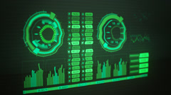 Graphical User Interface, Active Graph Charts - stock footage