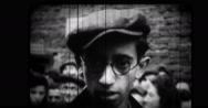 Jewish man in crowd on city street Stock Footage