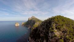 aerial view of untouched coastal landscape scenery - stock footage
