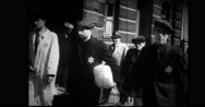 Jewish people walking on city street Stock Footage
