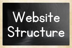 website structure concept - stock photo