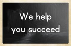 we help you succeed - stock photo