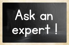 Ask an expert concept Stock Photos