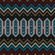 Stock Illustration of Ornamental knitted pattern