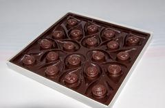 Chocolate  candy different sweet antidepressant - stock photo