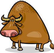 Stock Illustration of bull or buffalo cartoon illustration